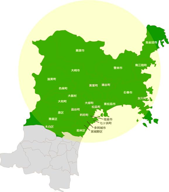 宮城県対応地域